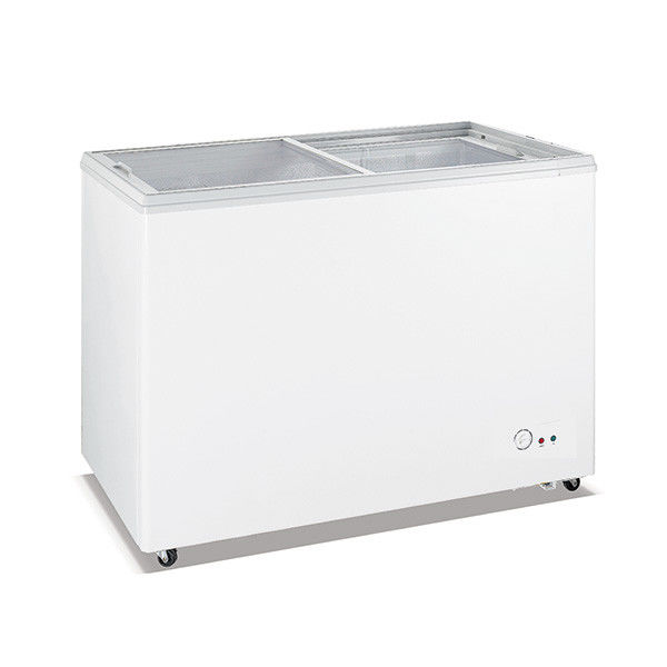 420L Lockable Chest Freezer , Commercial Chest Refrigerator For Meat / Seafood