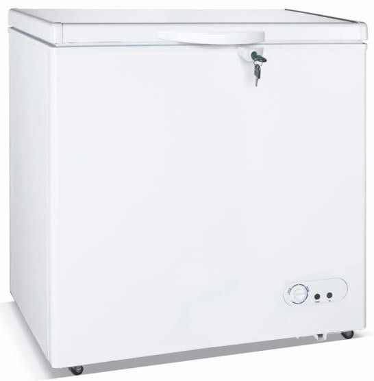 Fashion Appearance Direct Cooling Commercial Freezer , 350L Chest Freezer With Lock & Handle
