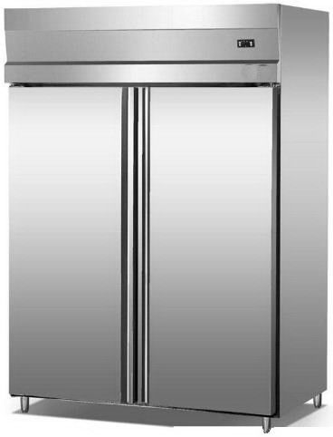 2/4 Doors Stainless Steel Commercial Kitchen Freezer 1000L Capacity With Low Consumption