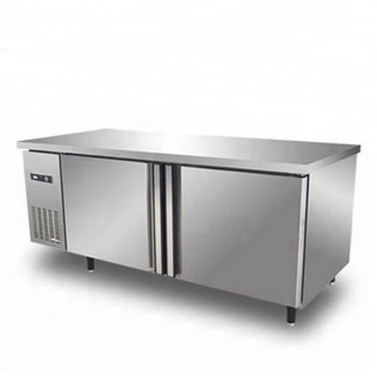 420L Stainless Steel Commercial Kitchen Refrigerator / Undercounter Refrigerator Manual Defrost Type With Double Doors