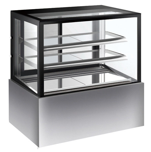 Commercial Refrigerated Cake Display Cabinets 280L Capacity With Sliding Door with 900mm Length and Two Layers