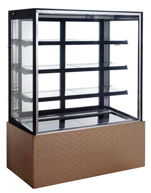 Stainless Steel Base Refrigerated Cake Display Cabinets Fast Refrigeration,510L 1200mm Three-layers Cake Showcase