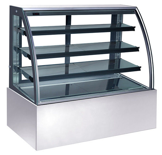 600L Refrigerated Cake Display Units , 220V-240V/50Hz Refrigerated Display Cabinet with 1800mm Length and Three Shelves