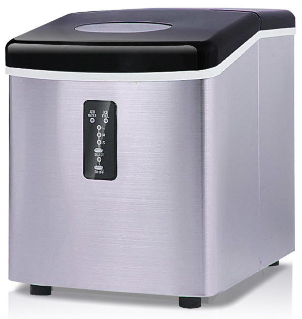 15Kg Stainless Steel Low Power Low Noise Portable Countertop Mini Ice Maker Machine Air - Cooled Energy Efficient