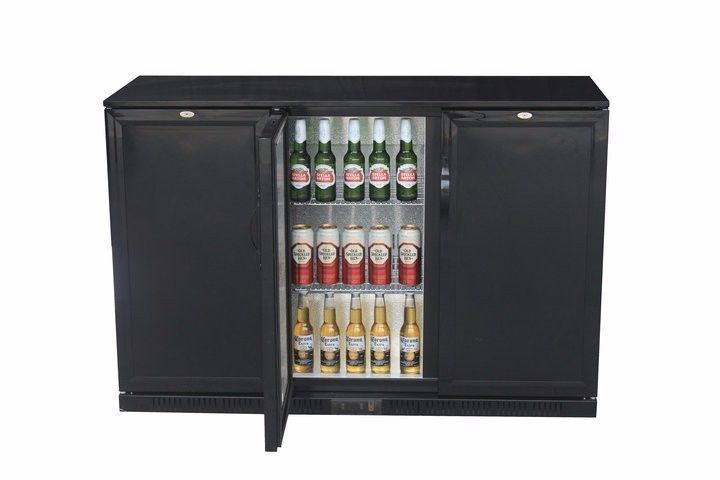 850/900mm Height Three Foaming Door Back Bar Cooler, Commercial Bar Refrigerator, Beer  Cooler