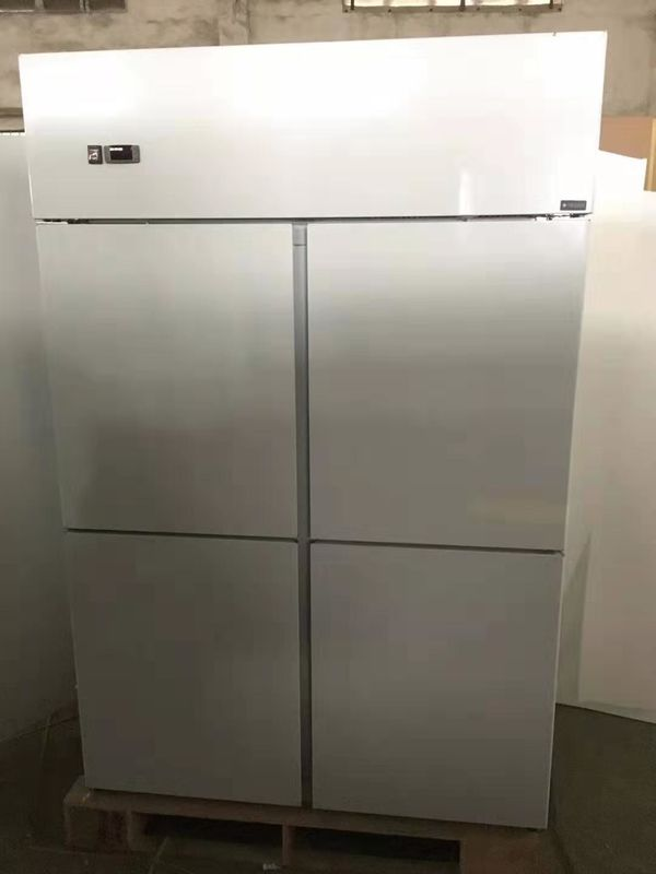 Glass Door Commercial Kitchen Refrigerator 500L Capacity Free Standing Installation,Stainless Steel Kitchen Freezer
