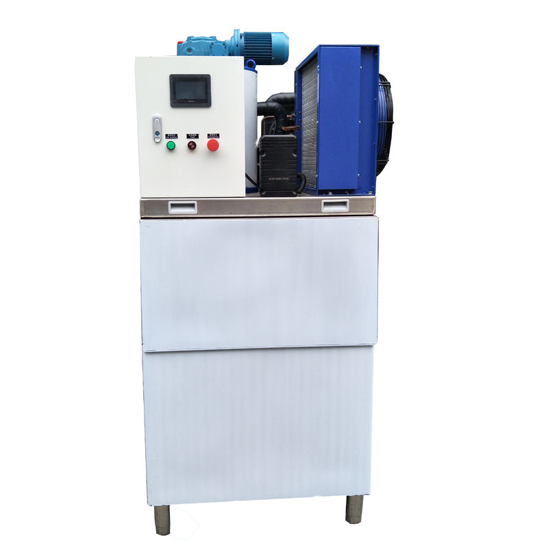 Stainless Steel Automatic Ice Maker Machine R22 Refrigerant For Fish Ship